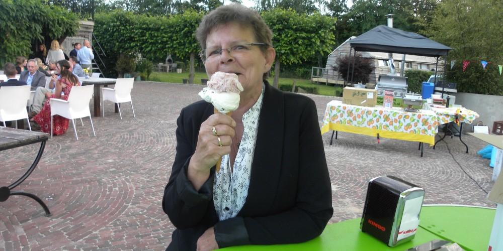 genieten van ijs